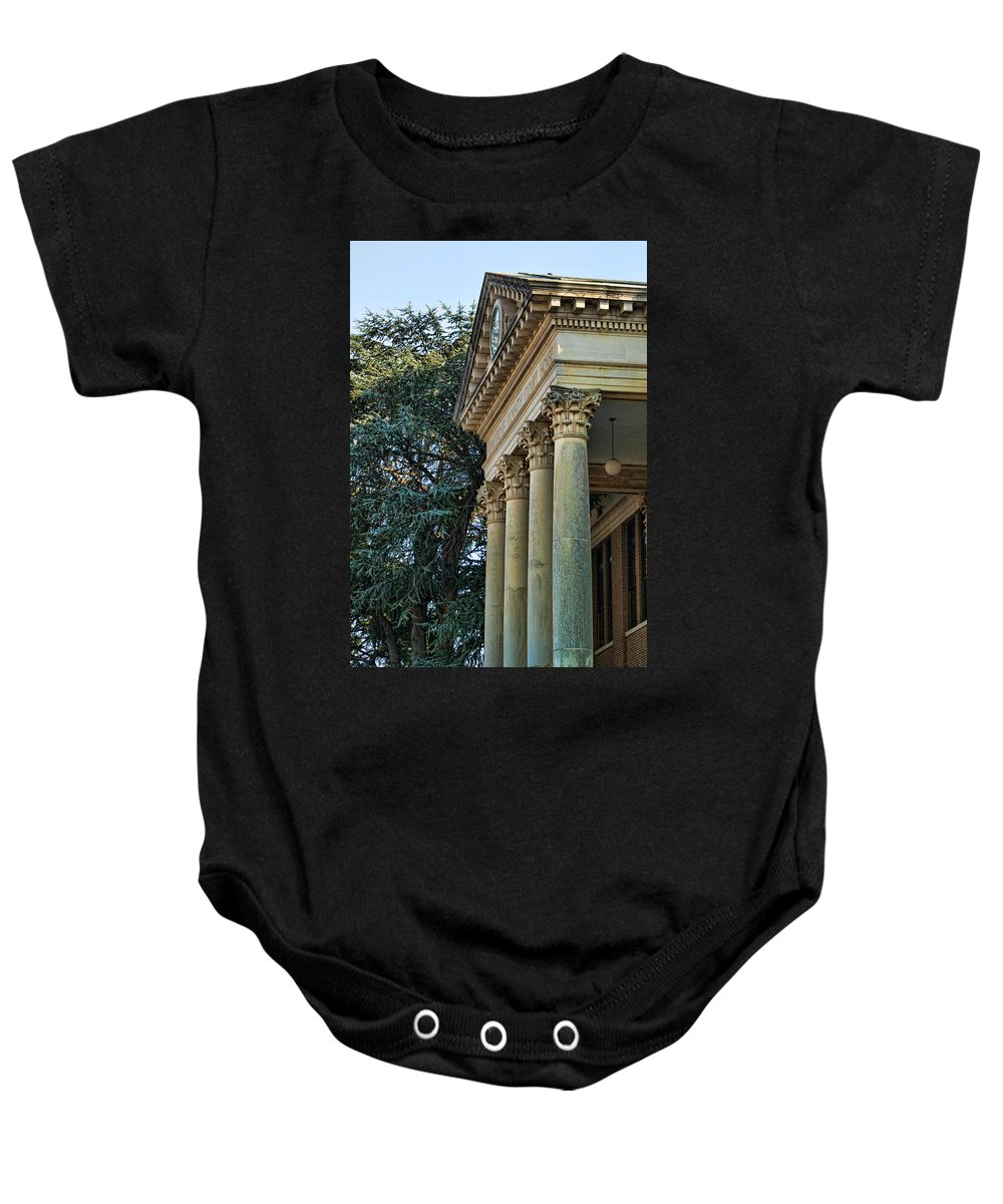 Historical Baby Onesie featuring the photograph Historical Athens Alabama Courthouse by Kathy Clark