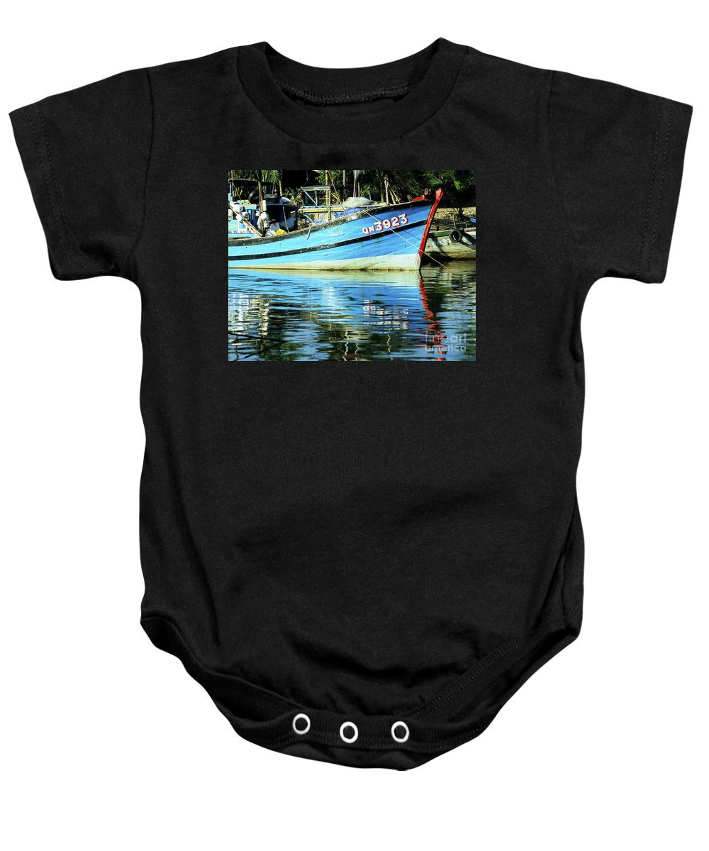 Vietnam Baby Onesie featuring the photograph Hoi An Fishing Boat 01 by Rick Piper Photography
