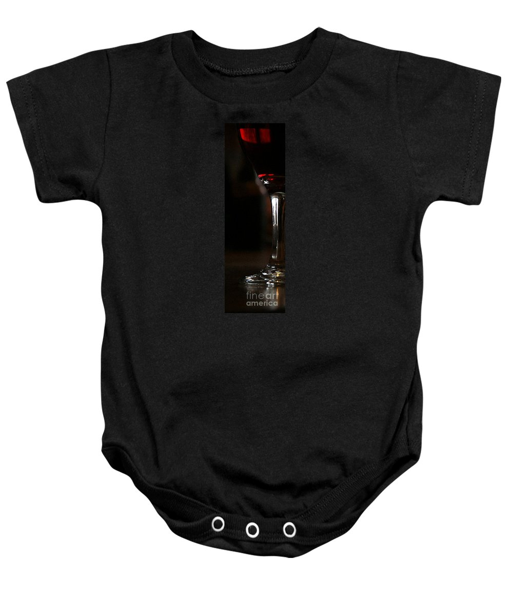Wine Baby Onesie featuring the photograph Holiday Cheer - Wc by Linda Shafer