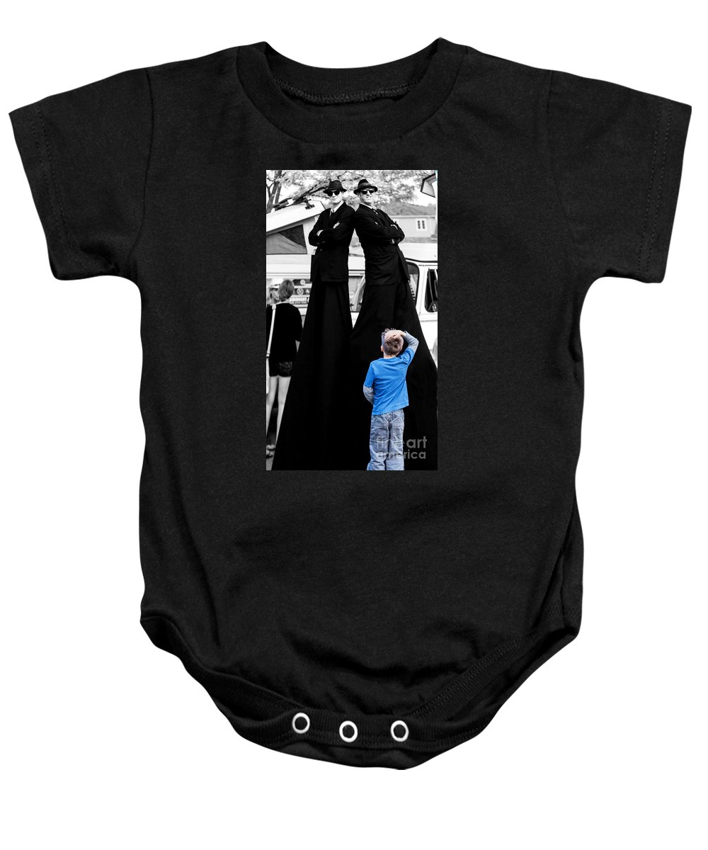 Blues Brothers Baby Onesie featuring the photograph Holy Cow by Barbara McMahon
