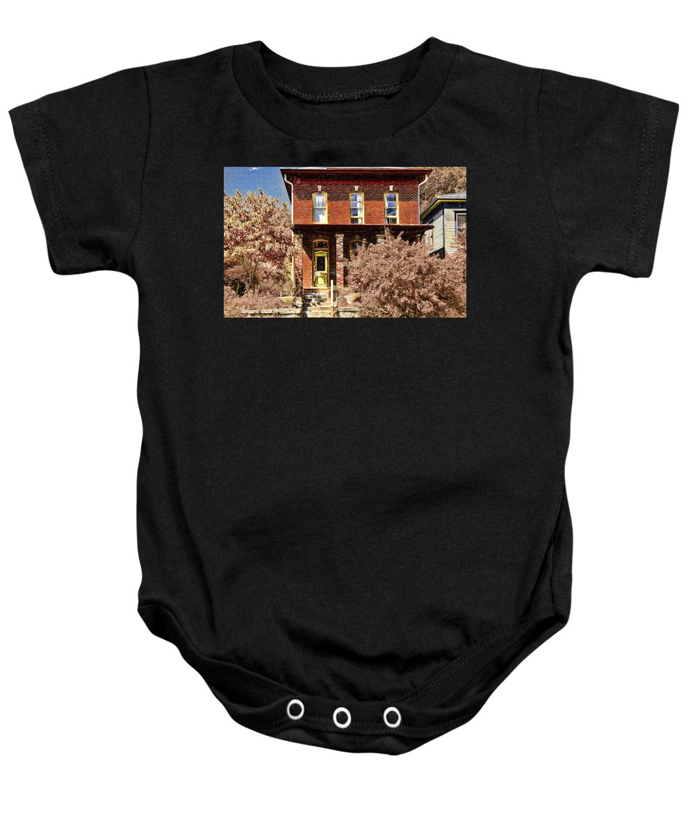 Home For The Fall Baby Onesie featuring the photograph Home For The Fall by L Wright