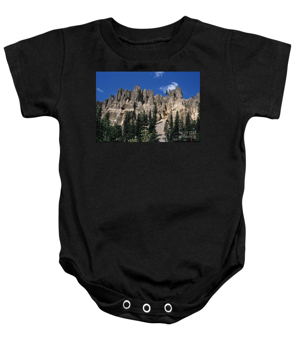 Sand Stone Baby Onesie featuring the photograph Hoo Doo's Bc Canada by Sharon Elliott