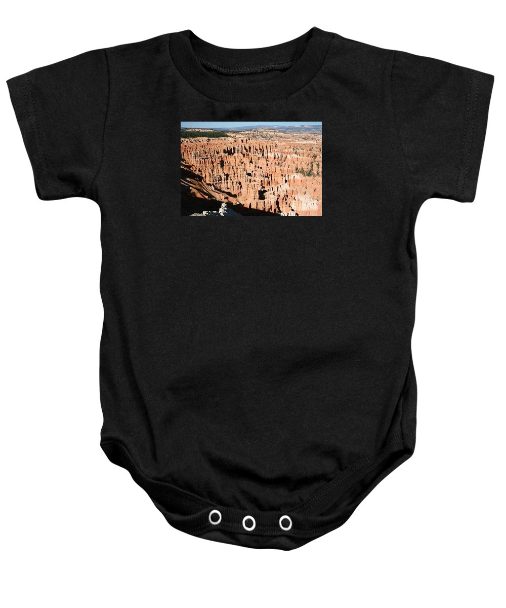 Canyon Baby Onesie featuring the photograph Hoodoos Of Bryce Canyon by Christiane Schulze Art And Photography