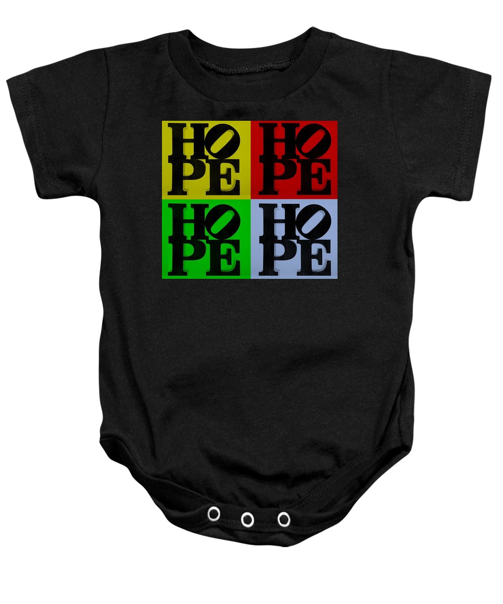 Hope Baby Onesie featuring the photograph Hope In Quad Colors by Rob Hans