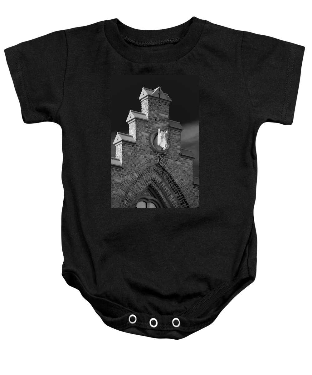 Appleton Baby Onesie featuring the photograph Horsehead  8256 by Guy Whiteley