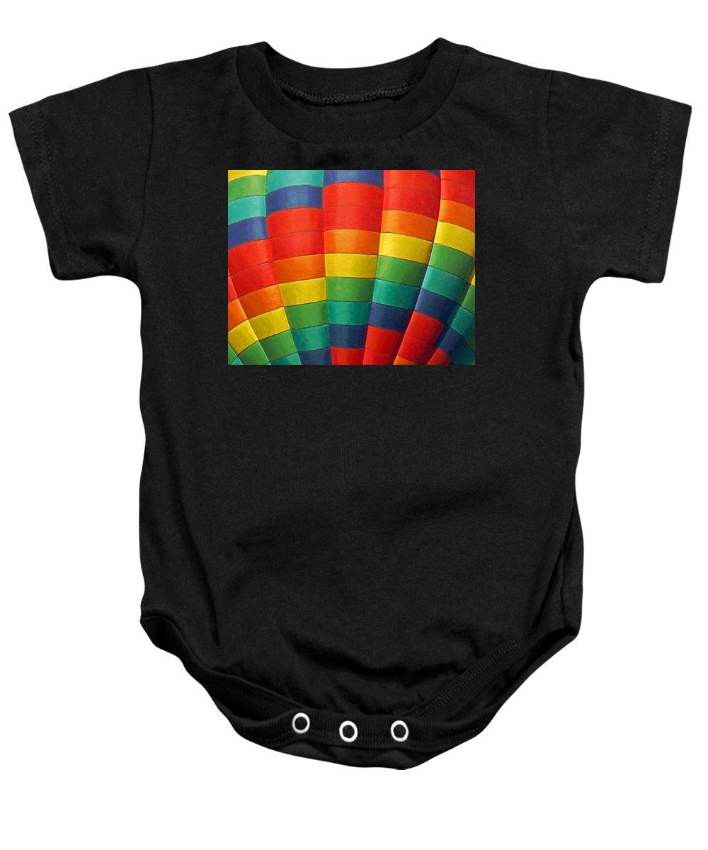 Balloons Baby Onesie featuring the photograph Hot Air Balloon Painterly by Ernie Echols