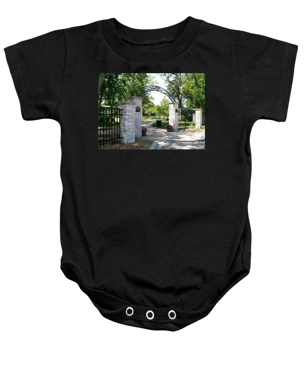 Baby Onesie featuring the photograph Hudson Crossing Park by Laurie Eve Loftin