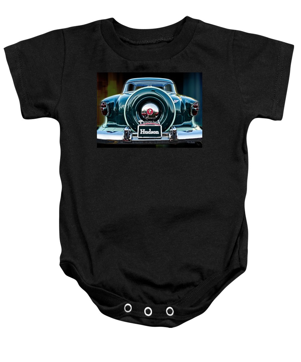 Hudson Motor Company Baby Onesie featuring the photograph Hudson by Mary Machare