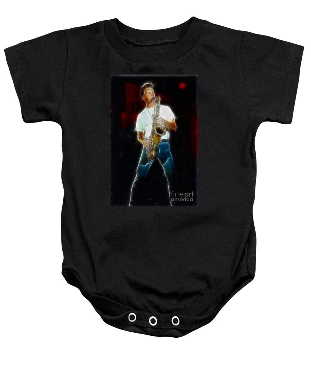 Huey Lewis Baby Onesie featuring the photograph Huey Lewis--johnny-ge2a-fractal by Gary Gingrich Galleries