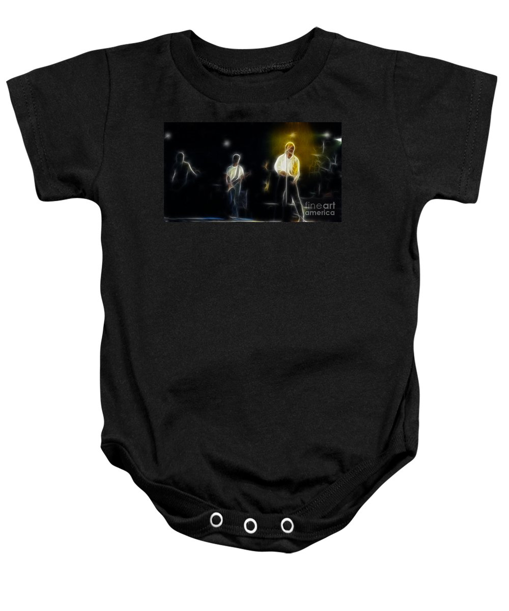 Huey Lewis Baby Onesie featuring the photograph Huey Lewis-ge7-fractal by Gary Gingrich Galleries