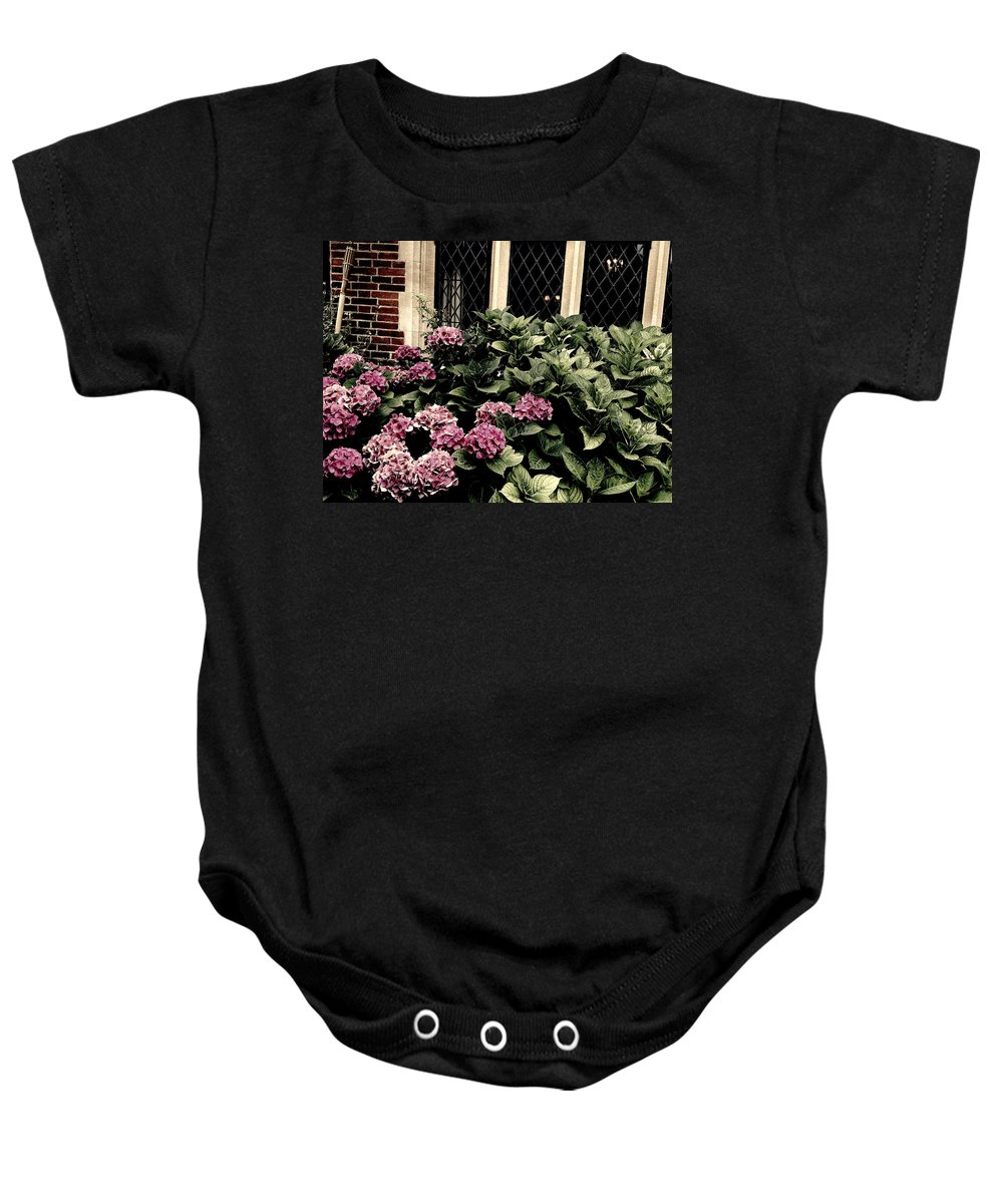 Photograph Baby Onesie featuring the photograph Hydrangea Blossoms by Nicole Parks