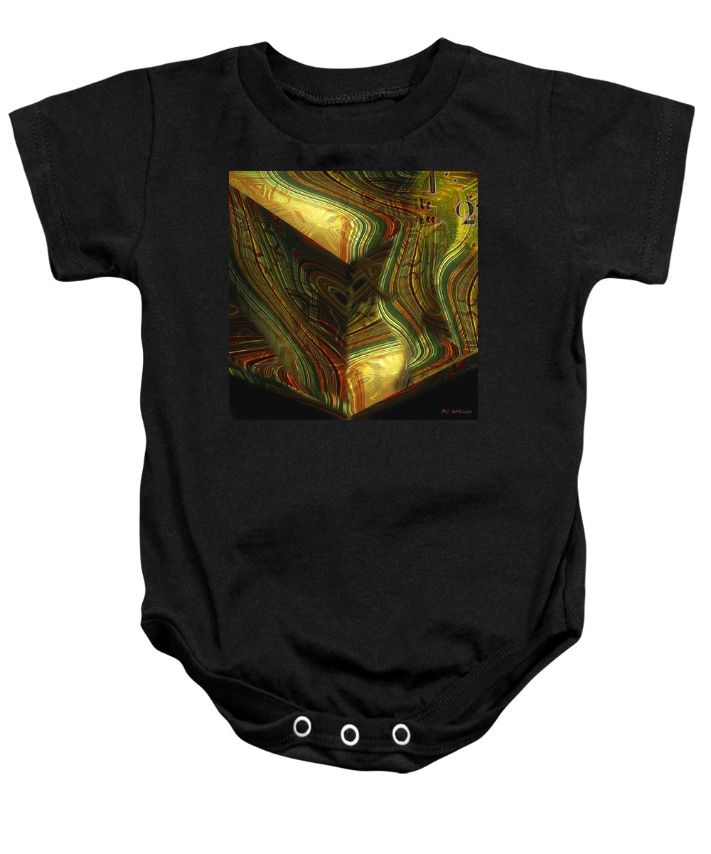 Abstract Baby Onesie featuring the painting I Have Set Aside A Block Of Time by RC DeWinter
