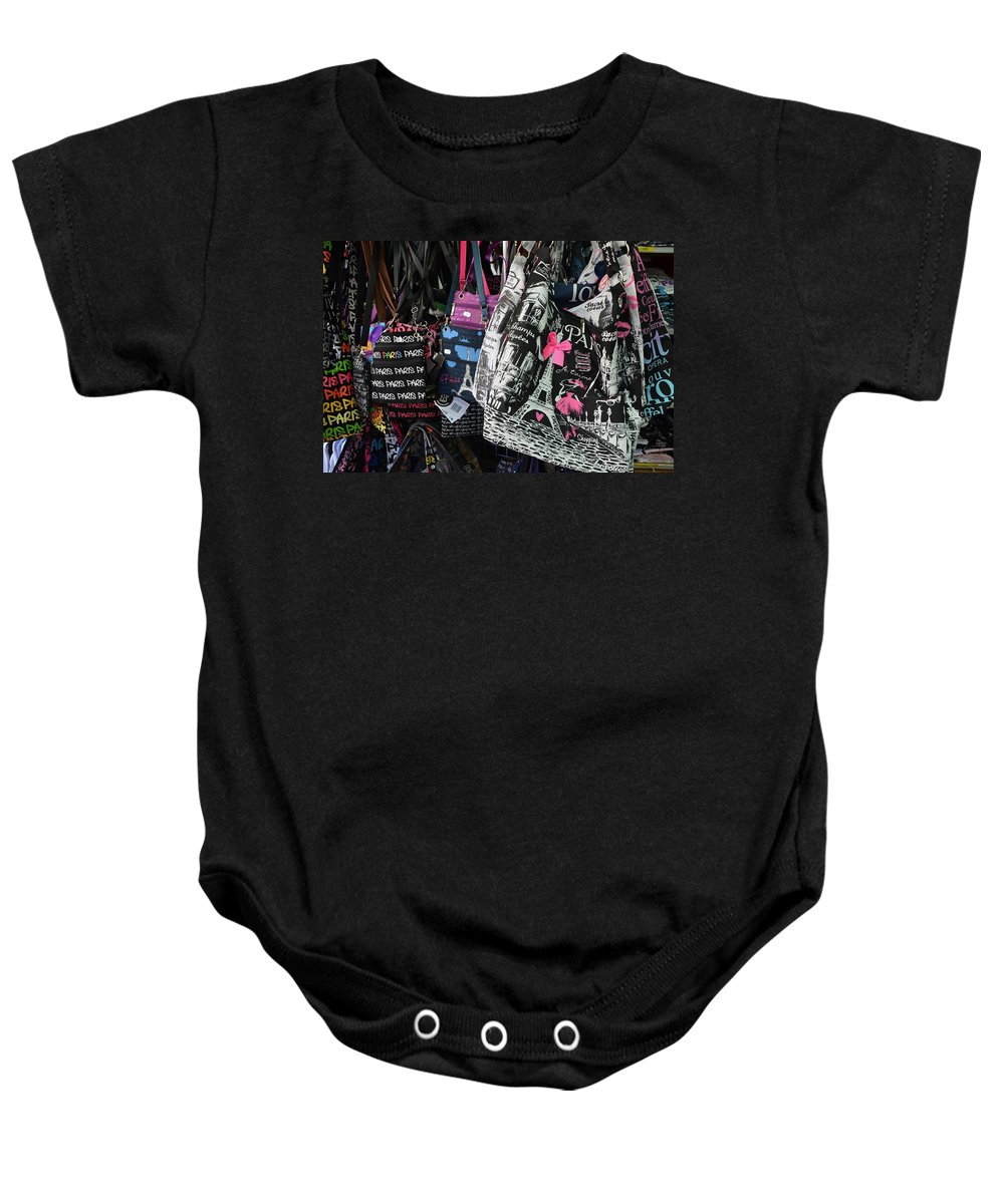 Paris Baby Onesie featuring the photograph I Love Paris by Dany Lison