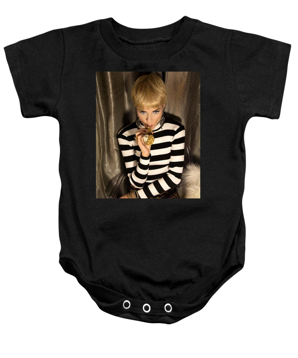 Edie Sedgwick Baby Onesie featuring the photograph Ice Cream Dream Girl by William Dey
