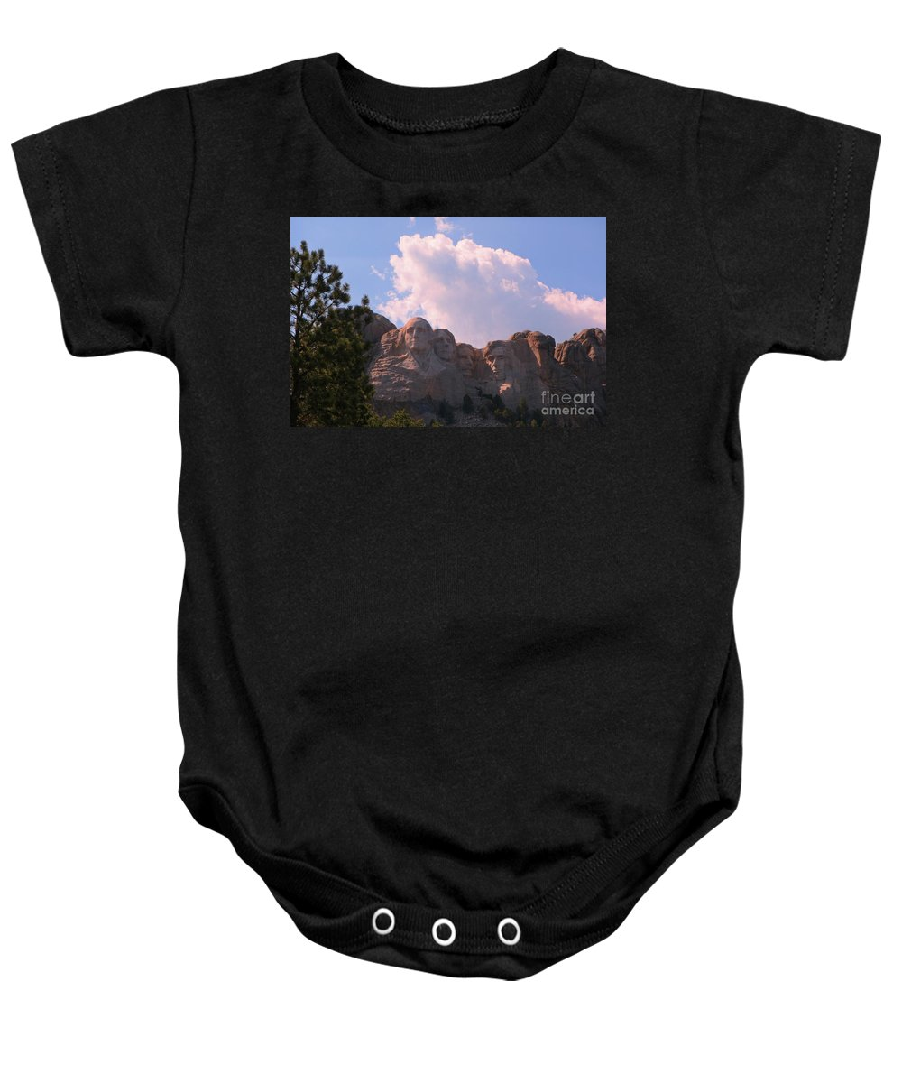 Mount Rushmore Baby Onesie featuring the photograph Iconic Mount Rushmore by John Malone