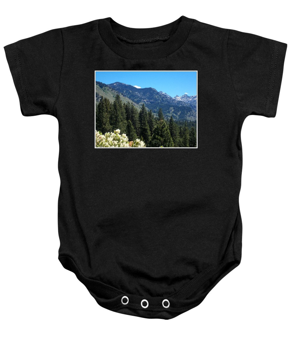 Trees Baby Onesie featuring the photograph Idaho Mountain Side by Susan Kinney