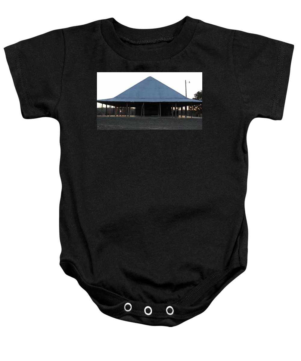 Church Baby Onesie featuring the photograph Illinois Bend Methodist Church Outdoor Meeting by Amy Hosp