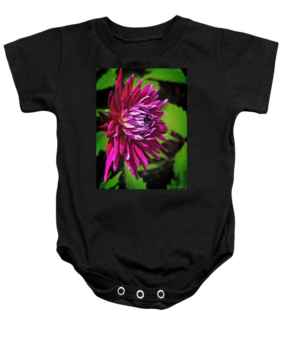 Flower Baby Onesie featuring the photograph I'm Hot Hot Pink by Lucinda Walter