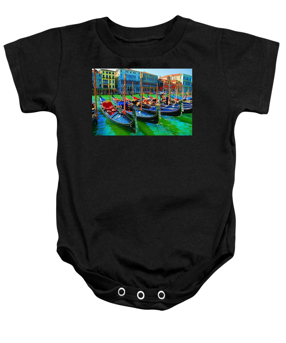 Impressionism Baby Onesie featuring the digital art Impressionistic Photo Paint Gs 009 by Catf