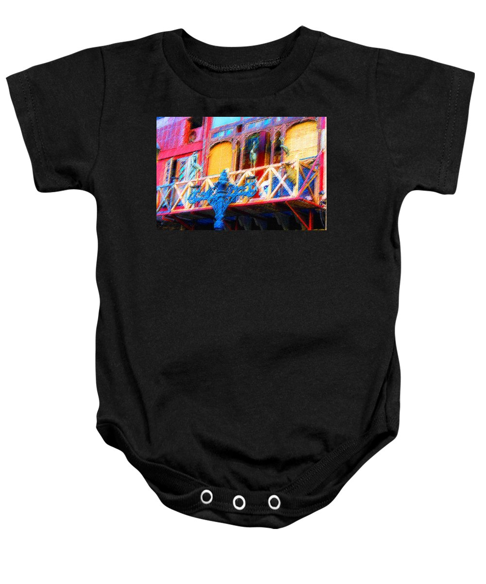 Baby Onesie featuring the digital art Impressionistic Photo Paint Ls 005 by Catf