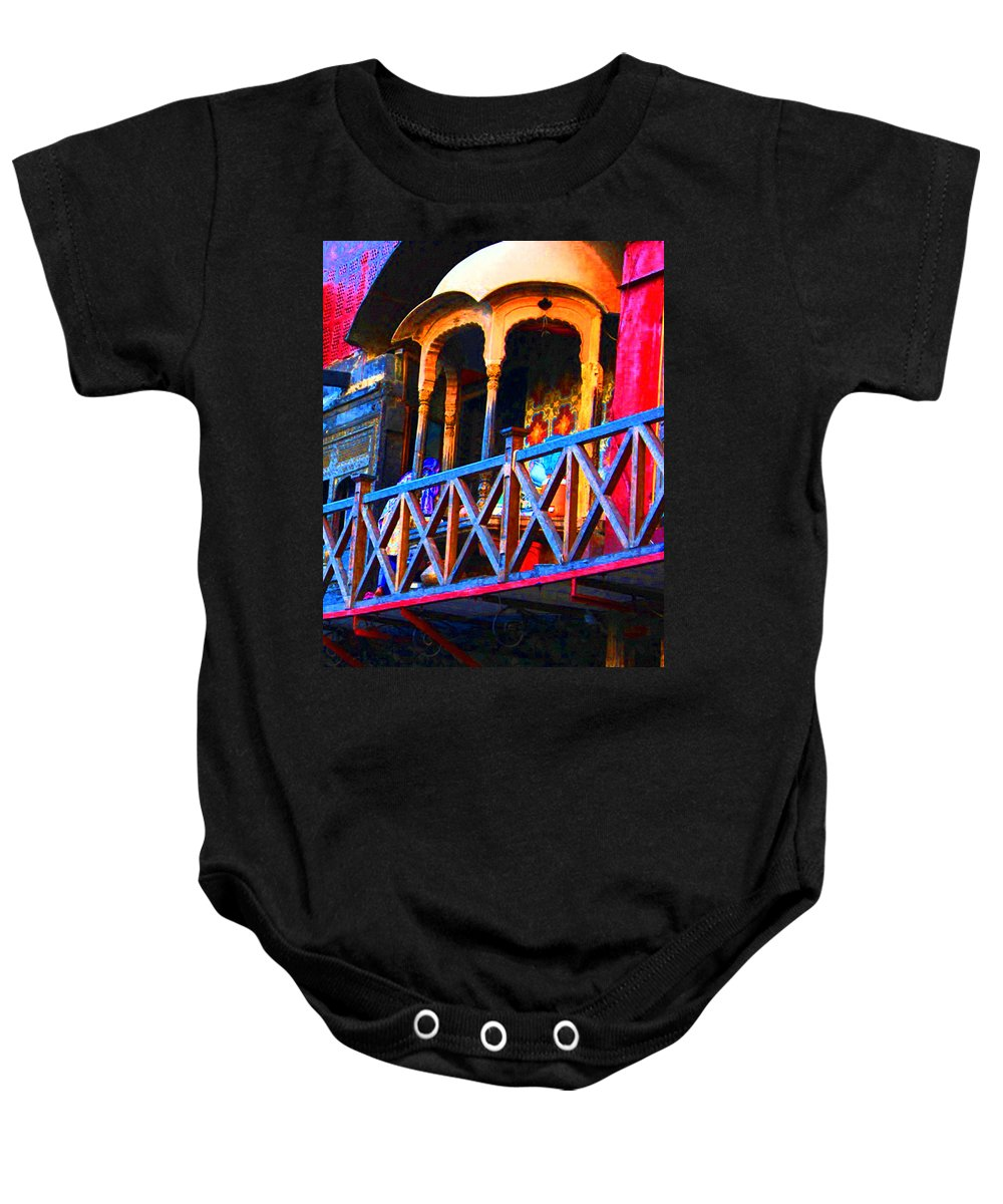 Baby Onesie featuring the digital art Impressionistic Photo Paint Ls 006 by Catf