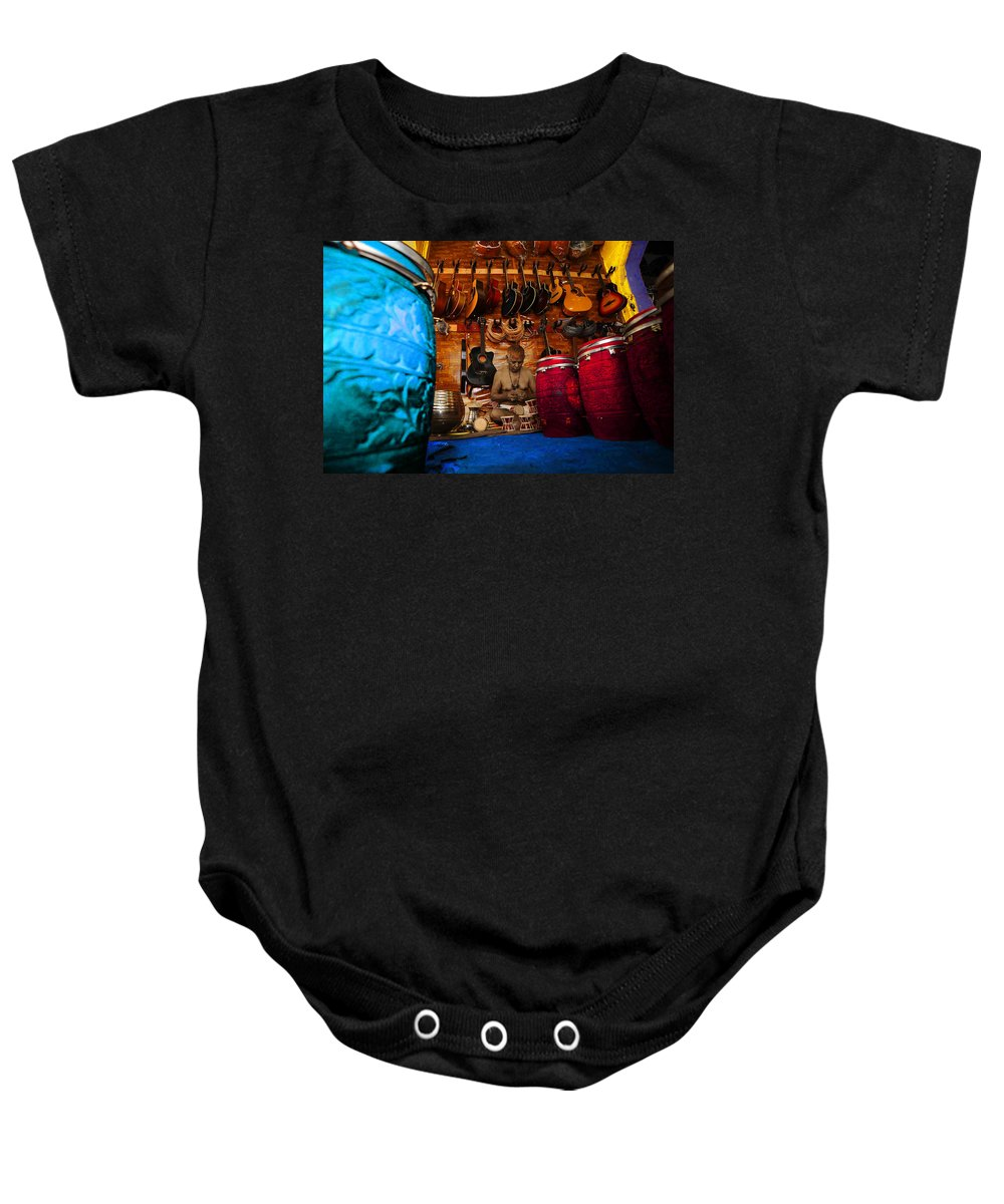 Baby Onesie featuring the digital art Impressionistic Photo Paint Ls 010 by Catf