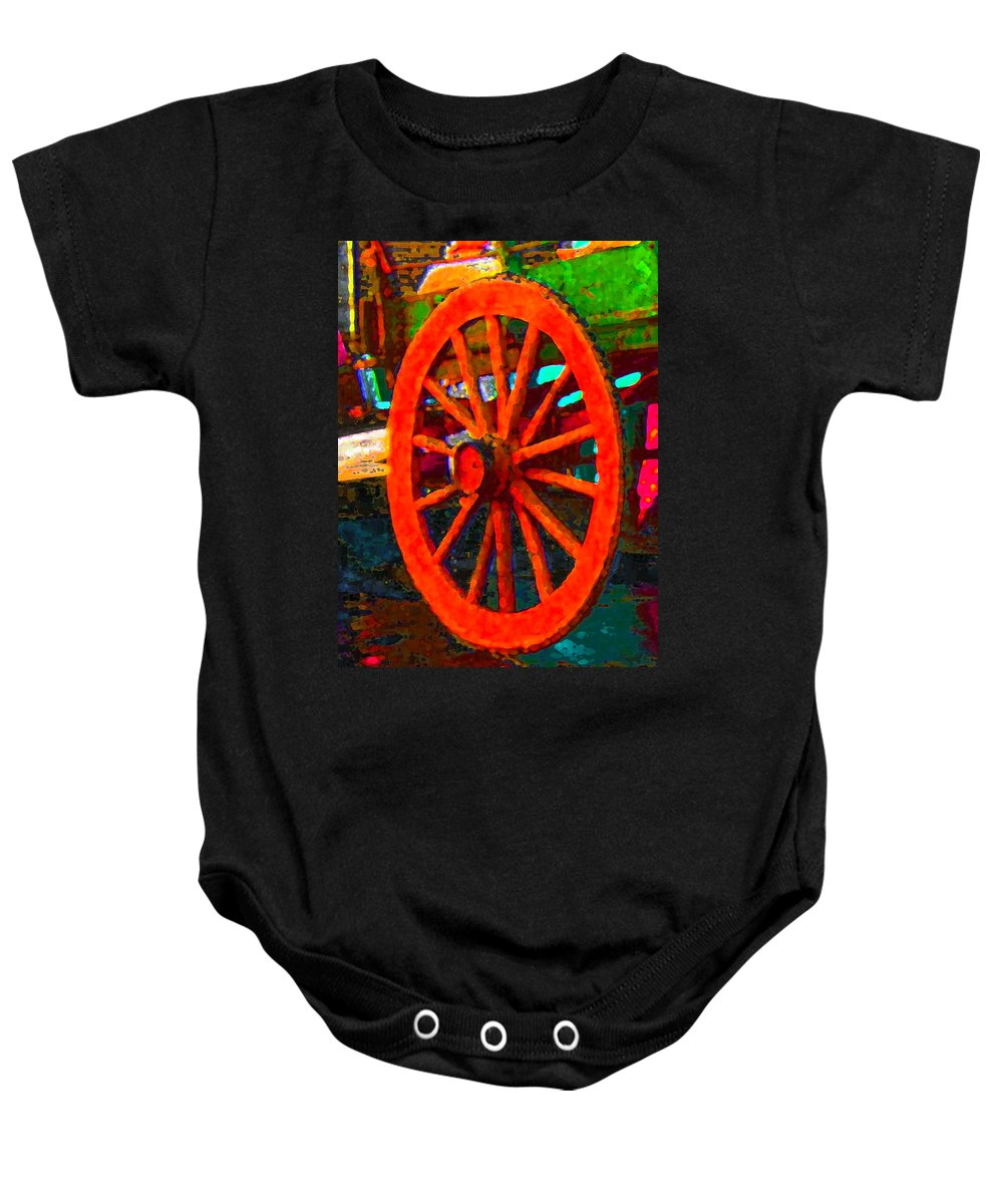 Baby Onesie featuring the digital art Impressionistic Photo Paint Ls 011 by Catf
