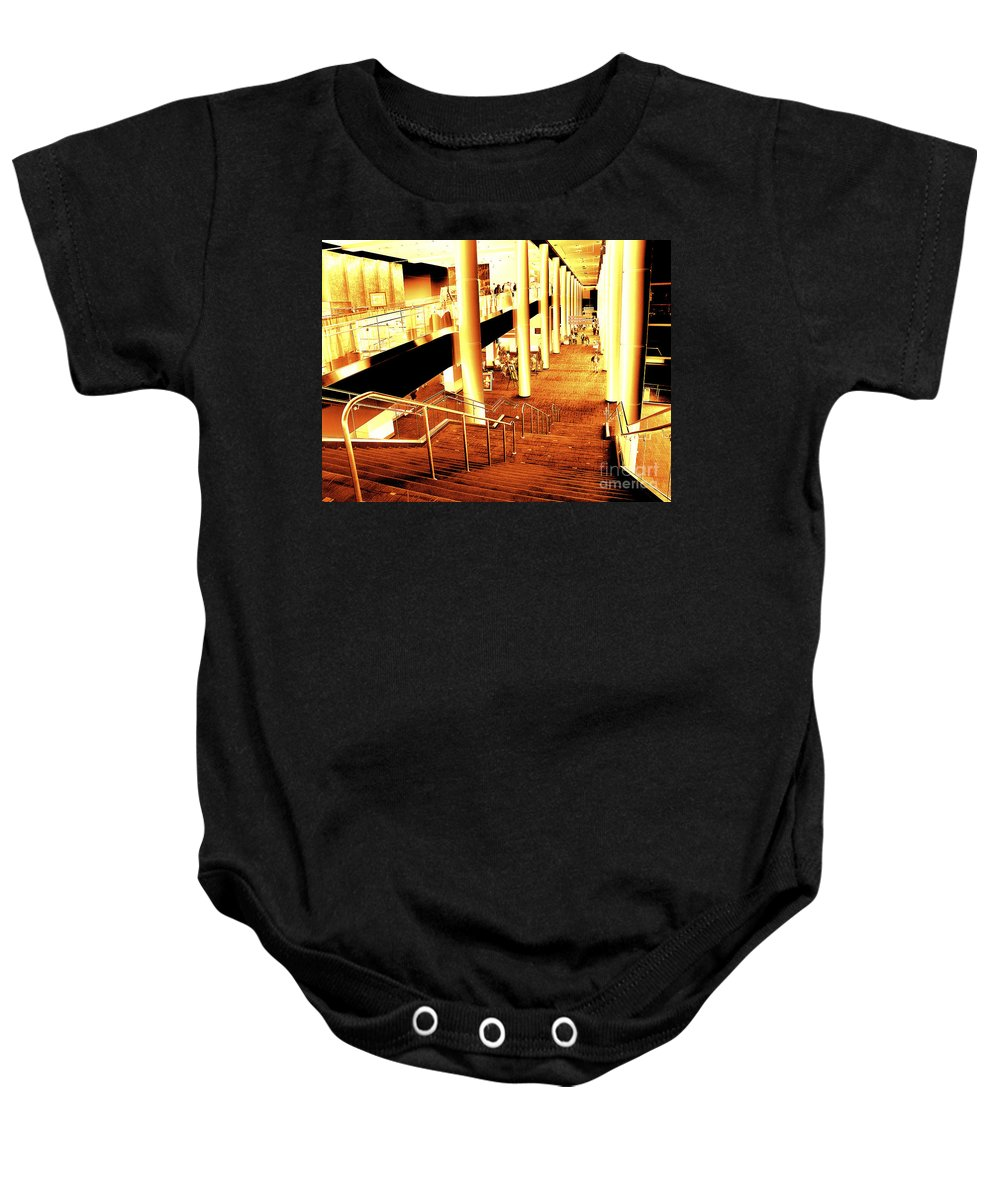 Infrared Baby Onesie featuring the photograph In A City Of Gold by Paul W Faust - Impressions of Light
