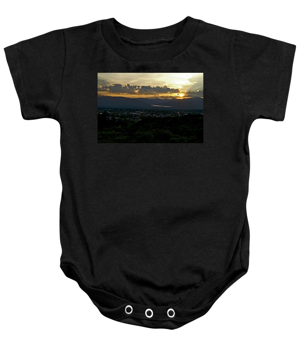 Sunset Baby Onesie featuring the photograph In My Place by Jeremy Rhoades