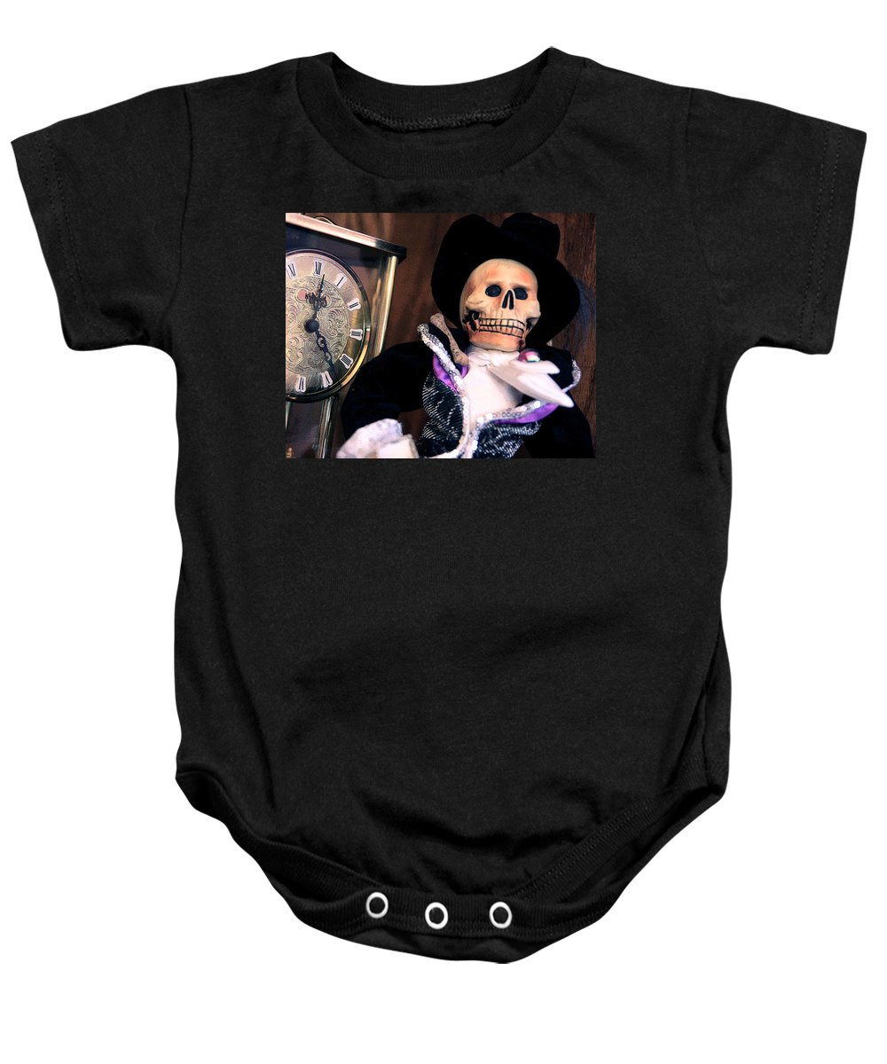 Day Of The Dead Baby Onesie featuring the photograph In The Fullness Of Time by Joe Kozlowski