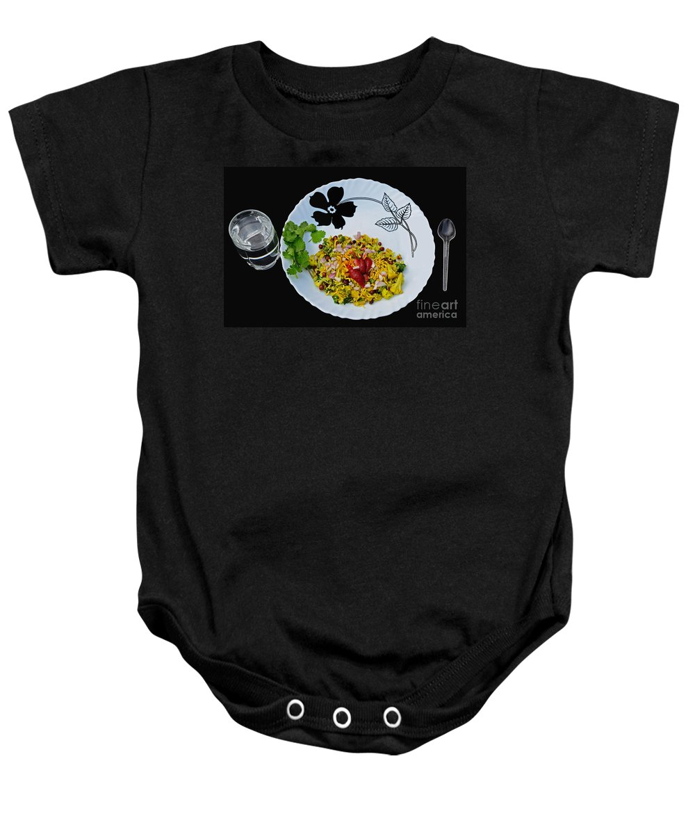 Poha Baby Onesie featuring the photograph Indian Snacks - Poha by Image World
