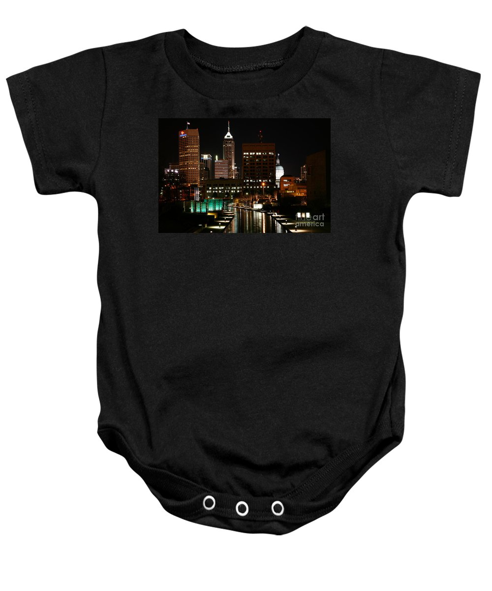 Medal Of Honor Memorial Baby Onesie featuring the photograph Indianapolis Indiana by Bill Cobb