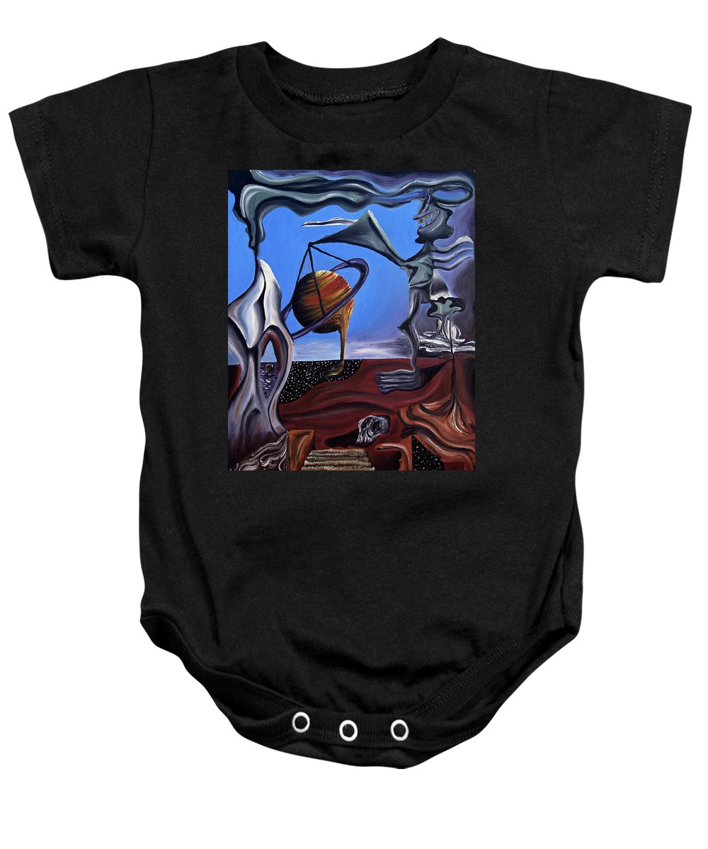 Abstract Baby Onesie featuring the painting Infatuasilaphrene by Ryan Demaree
