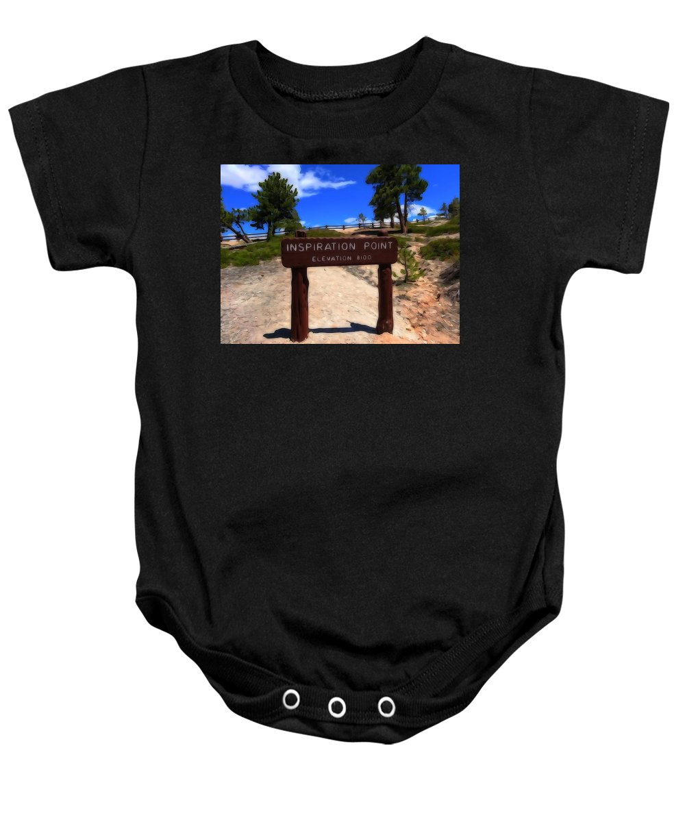Inspiration Point Baby Onesie featuring the photograph Inspiration Point by Dan Sproul