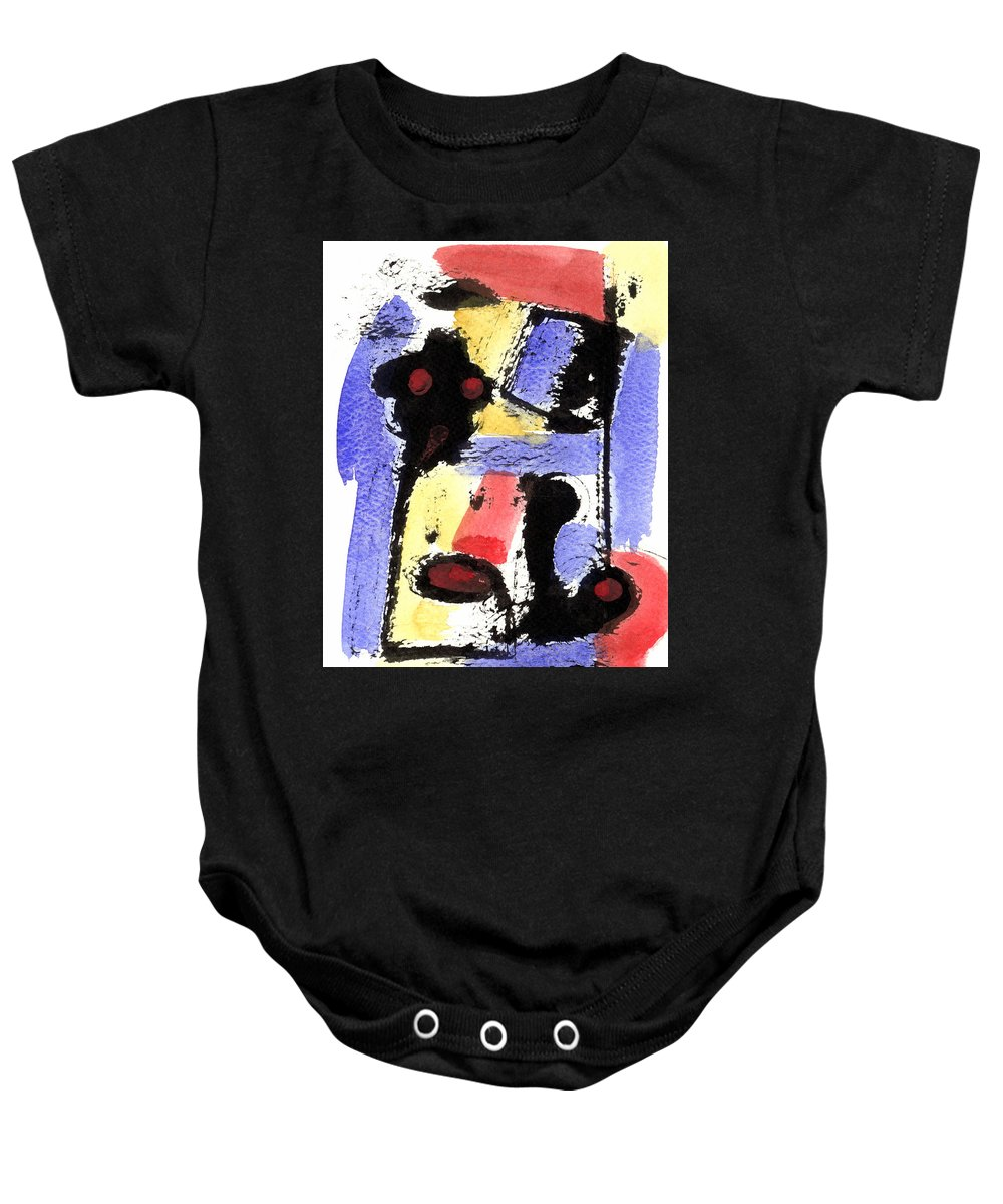 Abstract Art Baby Onesie featuring the painting Intense And Purpose 2 by Stephen Lucas