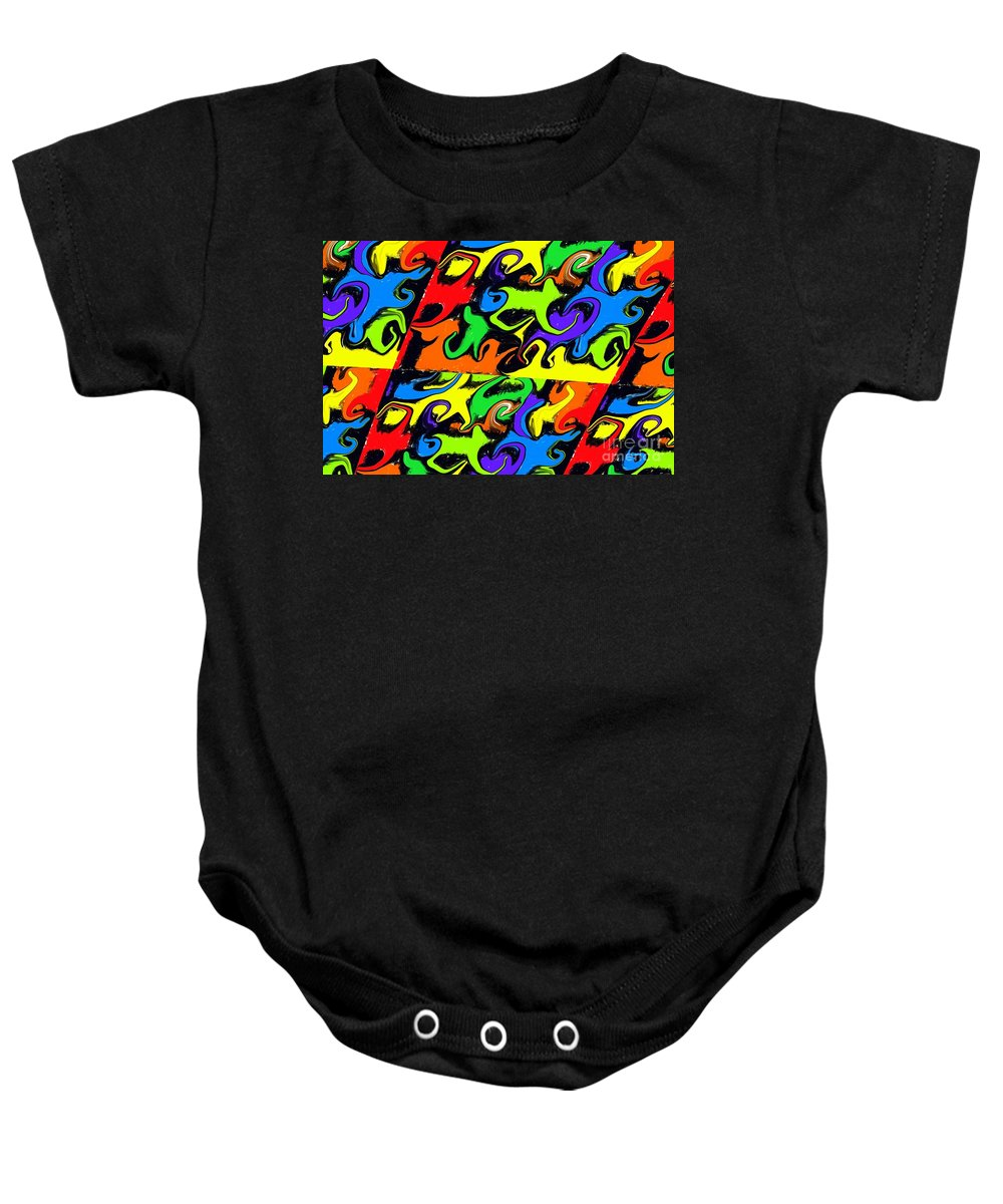 Colourful Baby Onesie featuring the digital art Intergalactic by Chris Butler