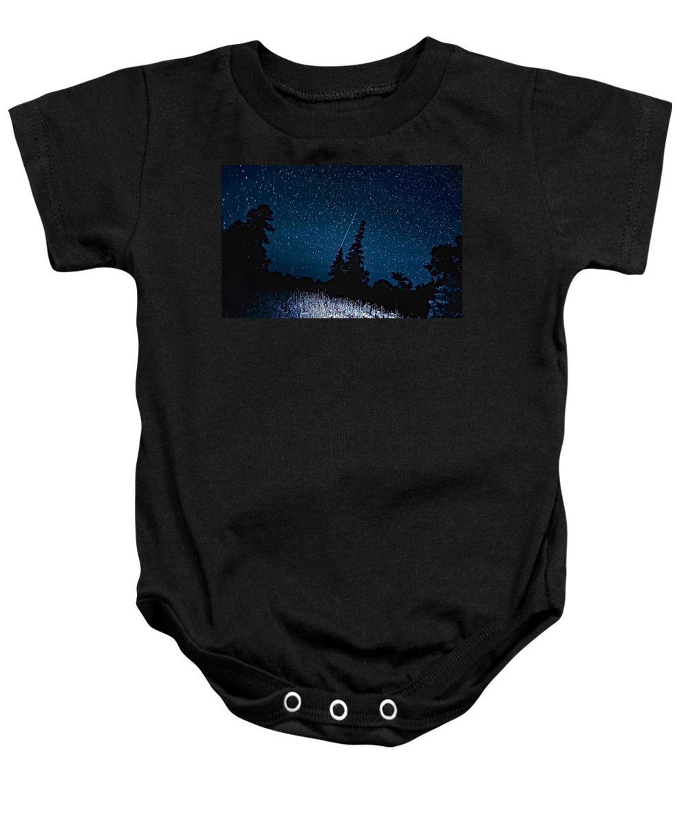 Galaxy Baby Onesie featuring the photograph Into The Night by Steve Harrington