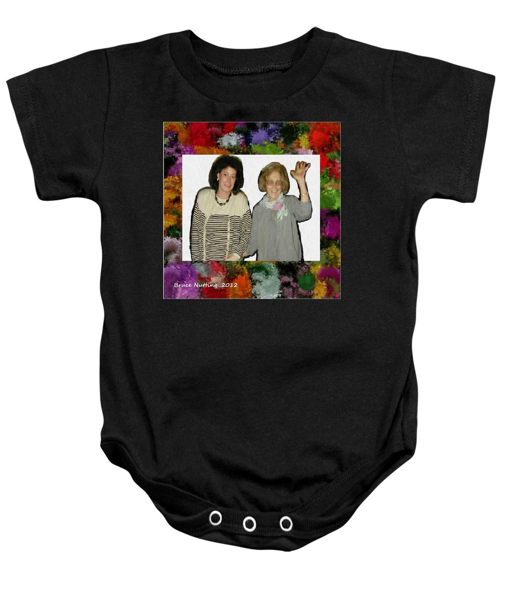 Baby Onesie featuring the painting Jane And Mom by Bruce Nutting