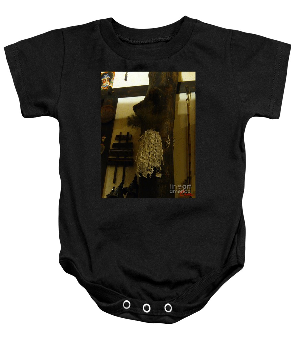 Sake Baby Onesie featuring the photograph Japanese Country Home Dinning Room by Feile Case