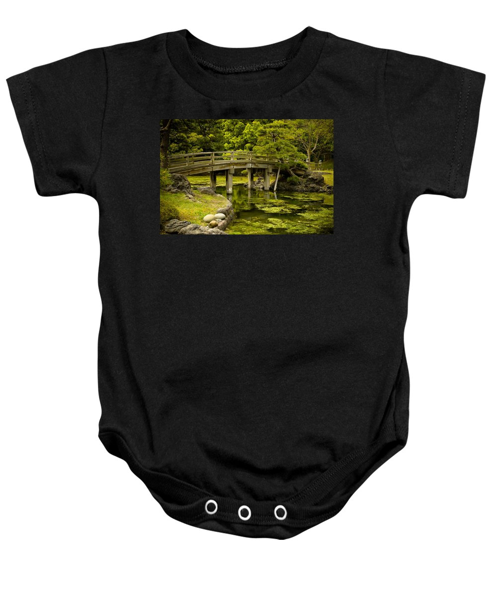 Japan Baby Onesie featuring the photograph Japanese Garden Tokyo by Sebastian Musial