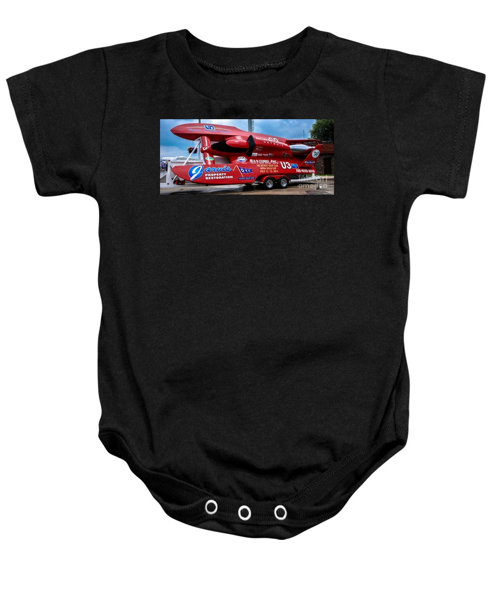 Jarvis Baby Onesie featuring the photograph Jarvis At Dry Dock by Grace Grogan