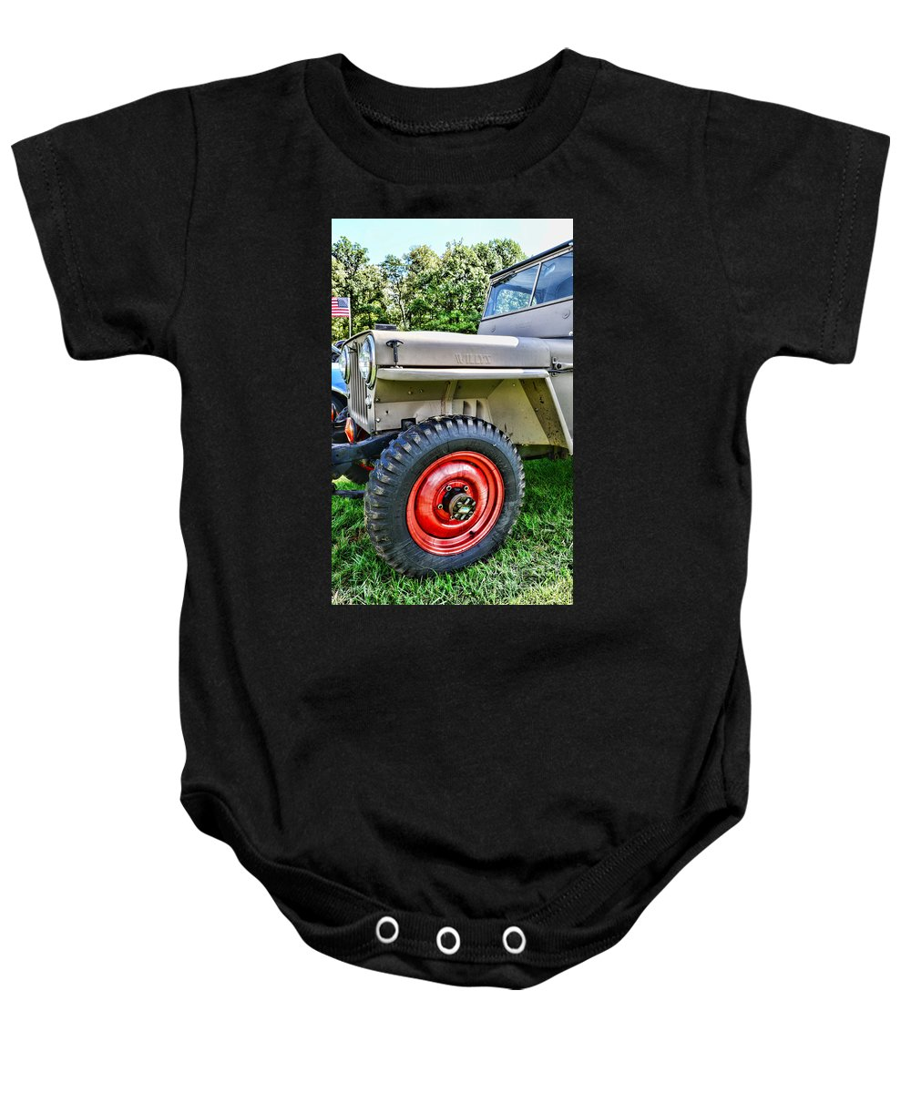Paul Ward Baby Onesie featuring the photograph Jeep Willys Ww2 by Paul Ward
