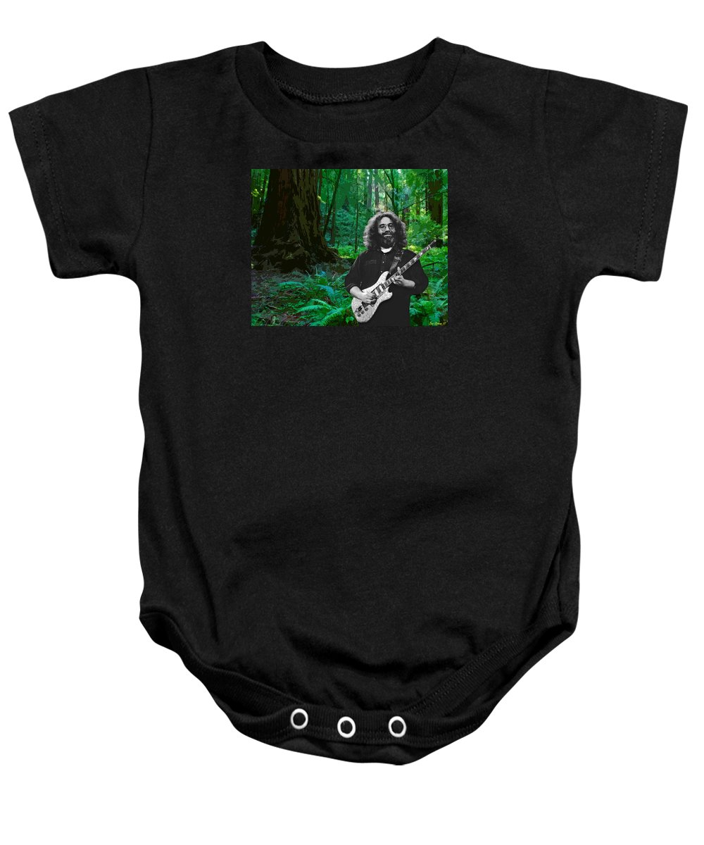 Jerry Garcia Baby Onesie featuring the photograph J G In Muir Woods by Ben Upham