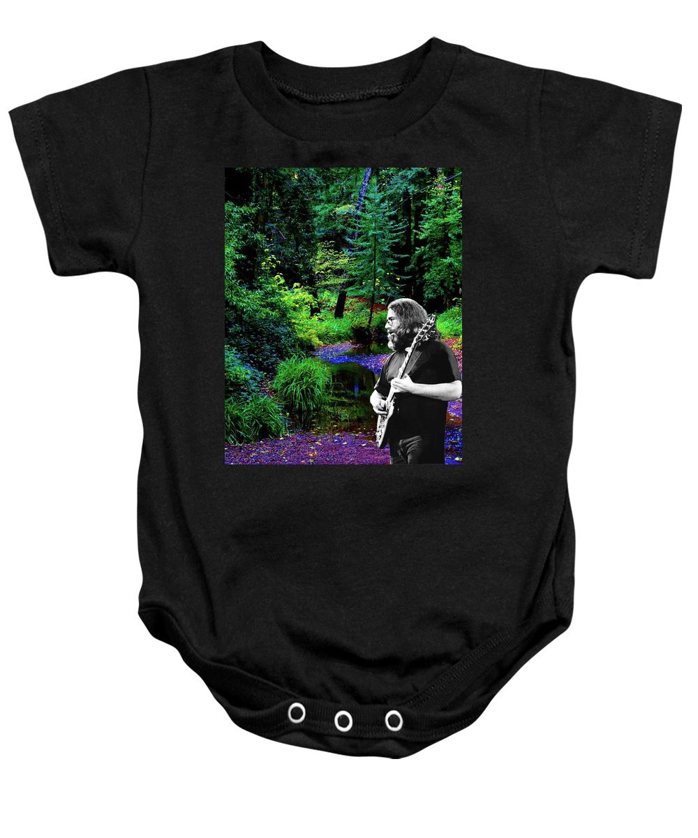 Jerry Garcia Photographs Baby Onesie featuring the photograph Jerry's Sunshine Daydream 2 by Ben Upham
