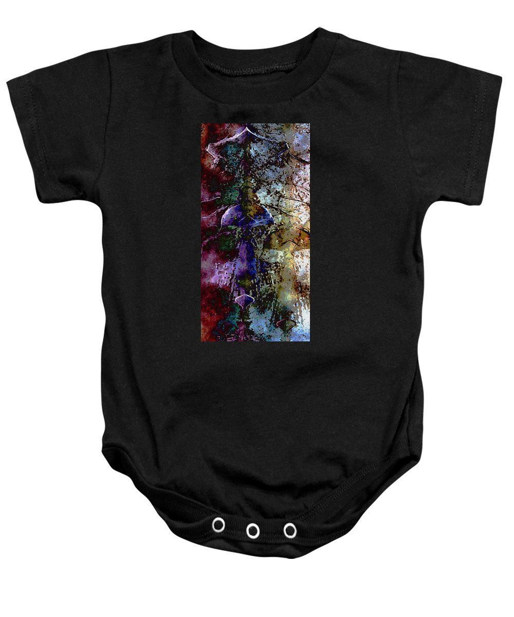 Digital Baby Onesie featuring the digital art Jewel Tones by David Hansen
