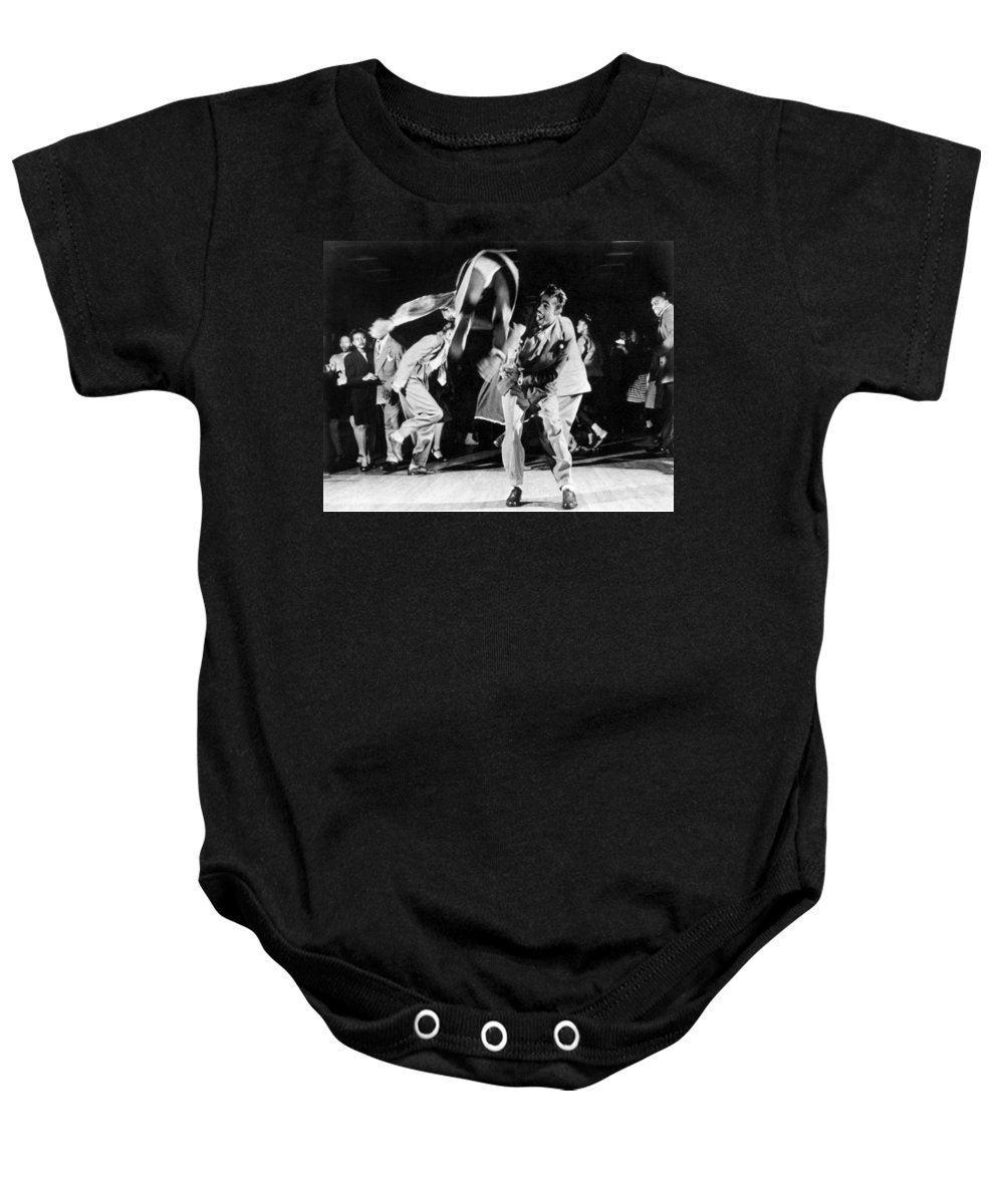 1939 Baby Onesie featuring the photograph Jitterbuggers, C1939 by Granger