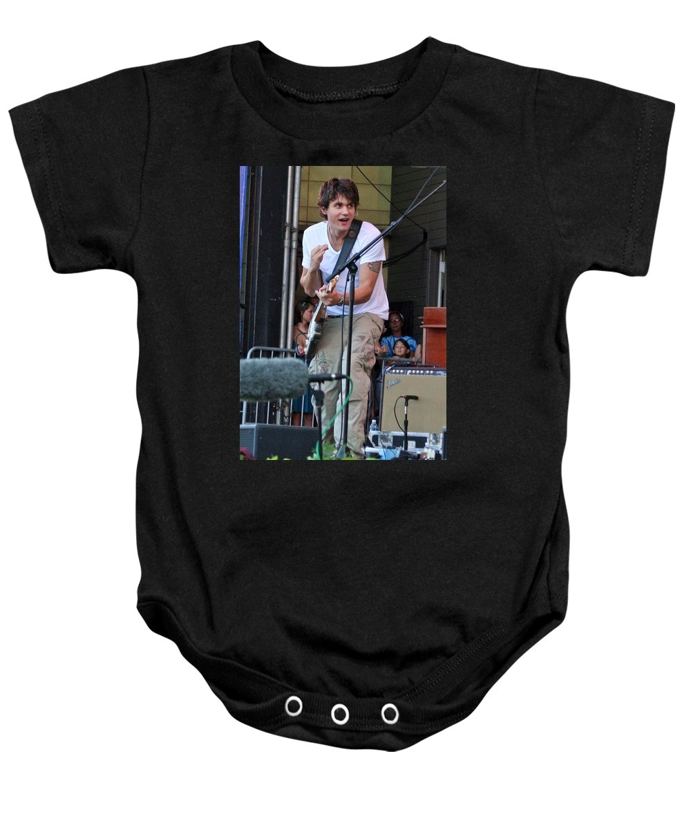 John Mayer Baby Onesie featuring the photograph John Mayer by Sheryl Chapman Photography