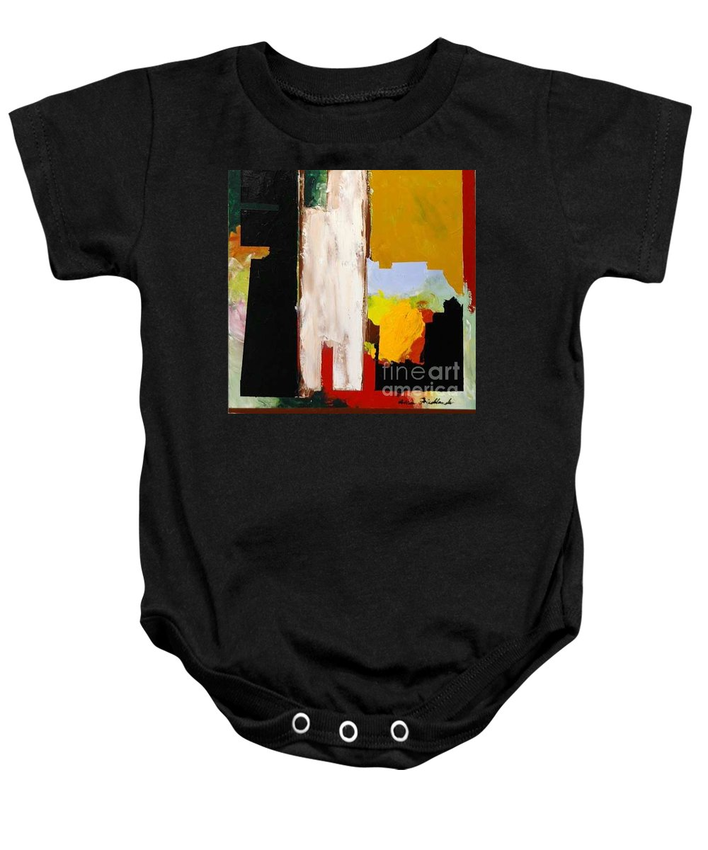 Landscape Baby Onesie featuring the painting Jordan Park 511 by Allan P Friedlander