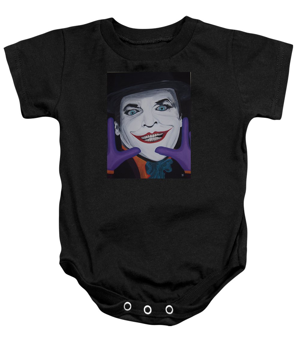 Colorful Baby Onesie featuring the painting Just Jack by Dean Stephens