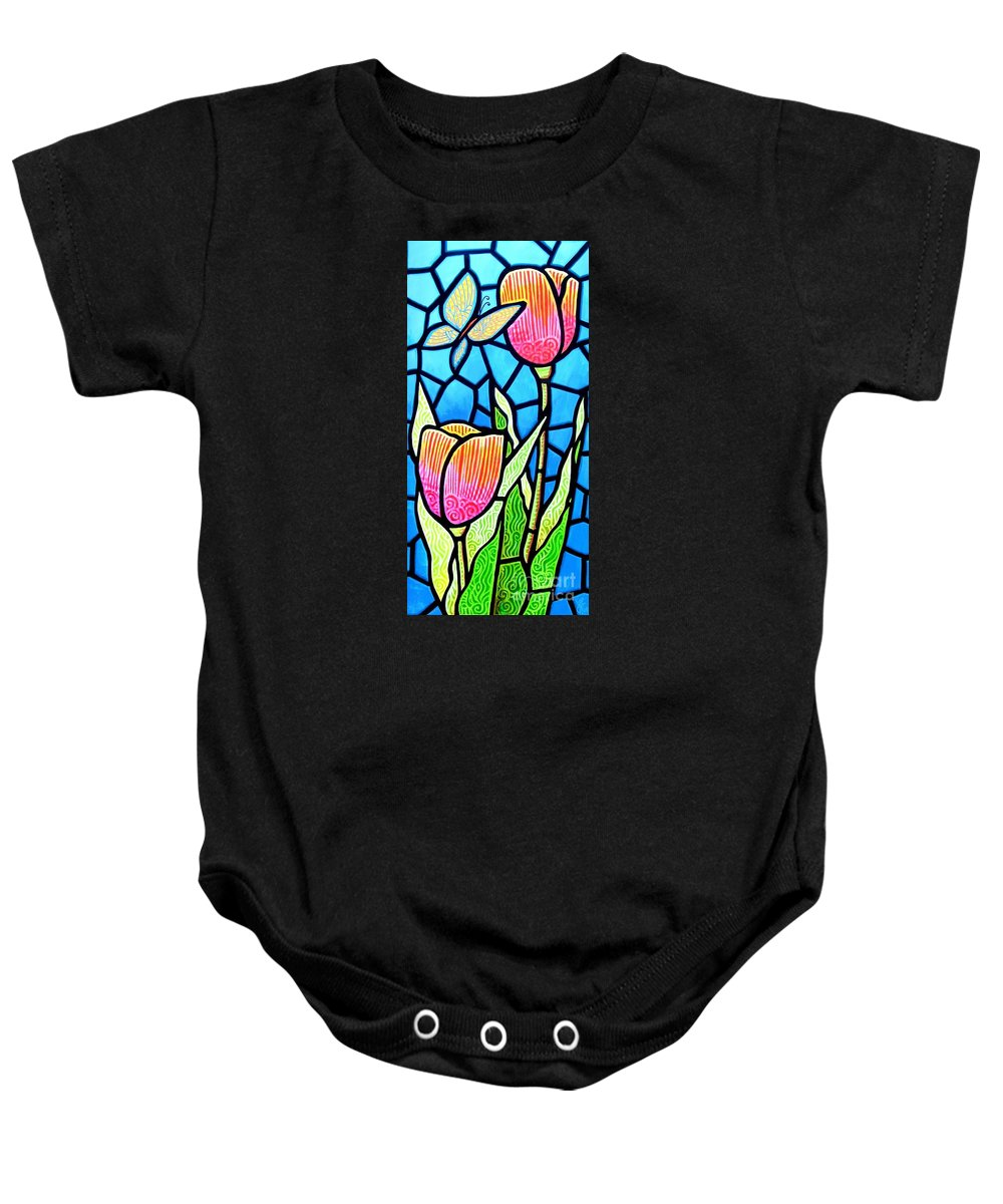 Butterflies Baby Onesie featuring the painting Just Visiting by Jim Harris